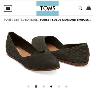 TOMS Forest Suede Jutti Flats